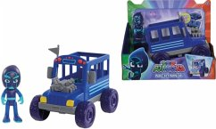 Simba 109402228 - PJ Masks, Night Ninja mit Bus, Action Figur, Spielset