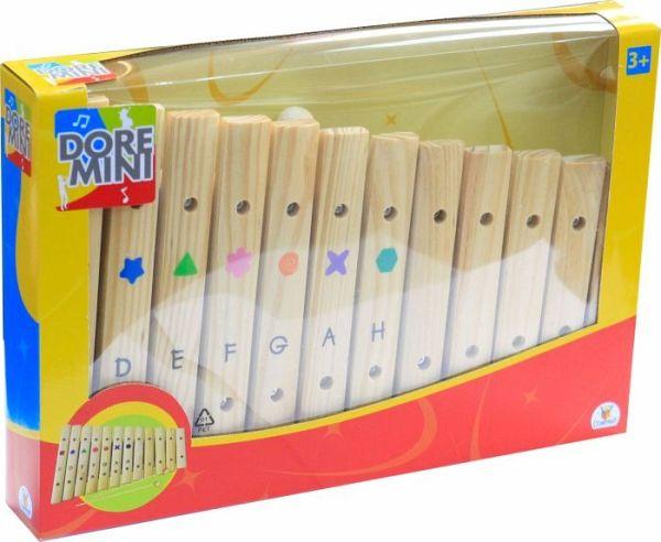 Beeboo Nachziehkrokodil mit Xylophon Holzspielzeug