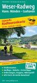 PUBLICPRESS Leporello Radtourenkarte Weser-Radweg, Hann. Münden - Cuxhaven