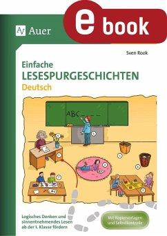Einfache Lesespurgeschichten Deutsch (eBook, PDF) - Rook, Sven