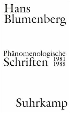 Phänomenologische Schriften - Blumenberg, Hans