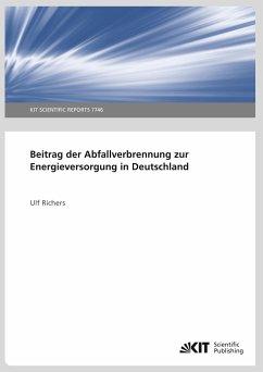 Beitrag der Abfallverbrennung zur Energieversorgung in Deutschland - Richers, Ulf