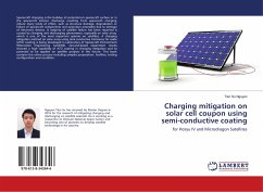 Charging mitigation on solar cell coupon using semi-conductive coating