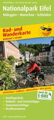 PublicPress Rad- und Wanderkarte Nationalpark Eifel, Nideggen - Monschau - Schleiden