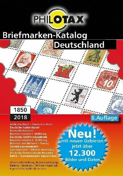 briefmarken katalog deutschland 1850 2018 1 dvd rom. Black Bedroom Furniture Sets. Home Design Ideas