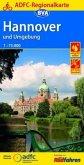 ADFC-Regionalkarte Hannover und Umgebung, 1:75.000, reiß- und wetterfest, GPS-Tracks Download