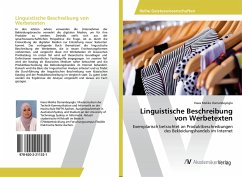 Linguistische Beschreibung von Werbetexten - Osmanbeyoglu, Hava Melike