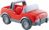 HABA 303671 - Little Friends, Tierarzt-Auto, Biegepuppen-Auto, rot