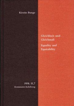 Gleichheit und Gleichmaß. Equality and Equitability (eBook, PDF) - Bunge, Kirstin