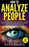 How to Analyze People : How to Read Anyone Instantly Using Body Language, Personality Types and Human Psychology (eBook, ePUB)