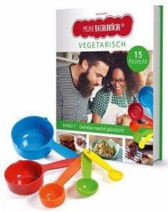 Meine Becherküche - Vegetarisch (Band 7). Mit Messbecher-Set - Wenz, Birgit