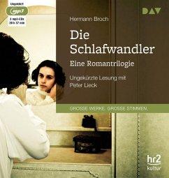 Die Schlafwandler. Eine Romantrilogie, 3 MP3-CD - Hermann, Broch