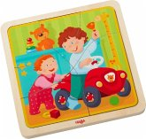 HABA 303680 - Holzpuzzle, Meine Leben, Schichtpuzzle, Kinderpuzzle, 22 Teile