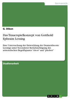 Das Trauerspielkonzept von Gotthold Ephraim Lessing