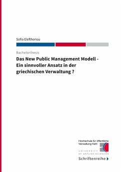 Das New Public Management Modell - Eleftheriou, Sofia