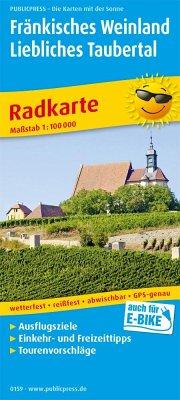 PublicPress Radkarte Fränkisches Weinland, Liebliches Taubertal