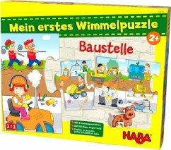 HABA 303705 - Meine erstes Wimmelpuzzle, Baustelle, Kinderpuzzle, 10 Teile