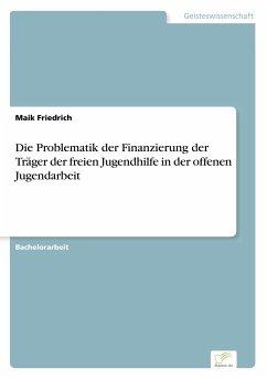 Die Problematik der Finanzierung der Träger der freien Jugendhilfe in der offenen Jugendarbeit - Friedrich, Maik