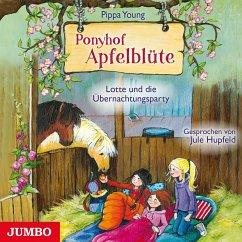 Lotte und die Übernachtungsparty / Ponyhof Apfelblüte Bd.12 (1 Audio-CD) - Young, Pippa