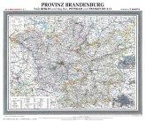 Historische Karte: Provinz BRANDENBURG im Deutschen Reich - um 1900 [gerollt]