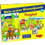 HABA 303704 - Meine erstes Wimmelpuzzle, Ponyhof, Kinderpuzzle, 10 Teile