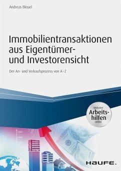 Immobilientransaktionen aus Eigentümer- und Investorensicht - inkl. Arbeitshilfen online (eBook, ePUB) - Bleuel, Andreas
