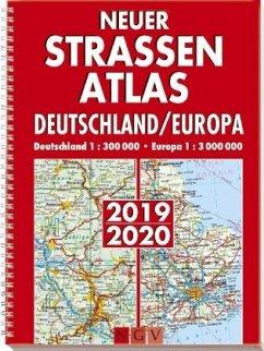 Neuer Straßenatlas Deutschland/Europa 2019/2020