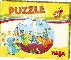 HABA 303761 - HABA-Lieblingsspiele, Puzzle, Ritter und Prinzessin, Kinderpuzzle, 6x2 Teile