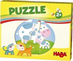 HABA 303762 - HABA-Lieblingsspiele, Puzzle, Bauernhof, Kinderpuzzle, 6x2 Teile
