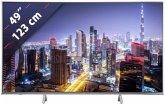 Panasonic TX-49FXW724 Metal Silver Hairline 123 cm (49 Zoll) Fernseher (4K / Ultra HD)
