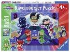 Ravensburger 07824 - PJ Masks Rettet den Tag, Kinderpuzzle, 2 x 12 Teile
