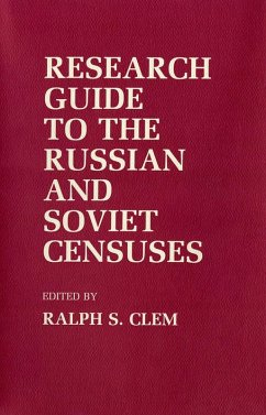 Research Guide to the Russian and Soviet Censuses (eBook, ePUB)
