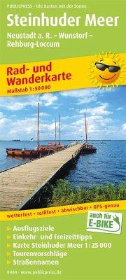 PUBLICPRESS Rad- und Wanderkarte Steinhuder Meer, Neustadt a. R. - Wunstorf - Rehburg-Loccum