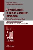 Universal Access in Human-Computer Interaction. Methods, Technologies, and Users