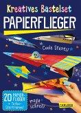 Kreatives Bastelset: Papierflieger: Set mit 20 Faltbögen, Anleitungsbuch und Falzhilfe
