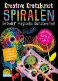Spiralen: Set mit 7 Kratztafeln, Spirograph, Anleitungsbuch und Holzstift / Kreative Kratzkunst NBd.13