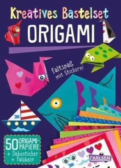 Kreatives Bastelset: Origami: Set mit 50 Faltbögen, Anleitungsbuch und Falzhilfe - Poitier, Anton
