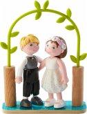 HABA 303165 - Little Friends, Brautpaar, Hochzeitspaar, Biegepuppen, Minipuppen