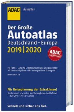 Großer ADAC Autoatlas 2019/2020, Deutschland 1:300 000, Europa 1:750 000