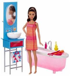 Barbie Deluxe-Set Möbel Badezimmer & Pupp