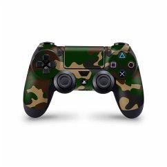 PS4 Controller Skin Sticker Camouflage grün