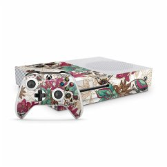 XBOX One S Skin Sticker Skull Flower weiss