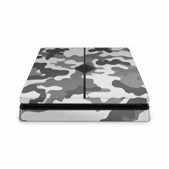 PS4 Slim Skin Sticker Camouflage grau