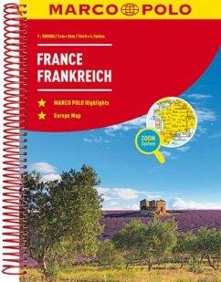 MARCO POLO Reiseatlas Frankreich 1:300 000; France