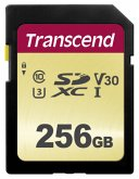 Transcend SDXC 500S 256GB Class 10 UHS-I U3 V30