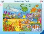 Ravensburger 06149 - Fröhliche Meeresbewohner, Rahmenpuzzle, 11 Teile, Puzzle
