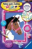 Ravensburger 29607 - Pferd, Malen nach Zahlen, mit Glitterrahmen
