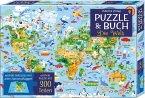 Puzzle und Buch: Die Welt (Puzzle)