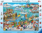 Ravensburger 06152 - Ein Tag am Hafen, Rahmenpuzzle, 24 Teile, Puzzle