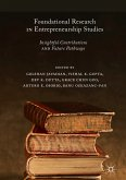 Foundational Research in Entrepreneurship Studies (eBook, PDF)